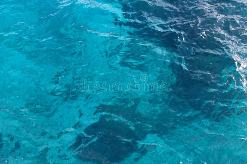 Marine water texture azure color stock image