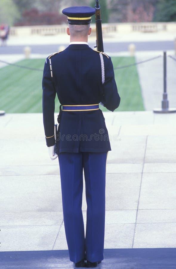 Marinebewaffnete wache Vereinigter Staaten, Arlington-nationaler Friedhof, Washington, D C lizenzfreie stockbilder