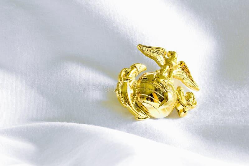 Marinecorp-Emblem stockbilder