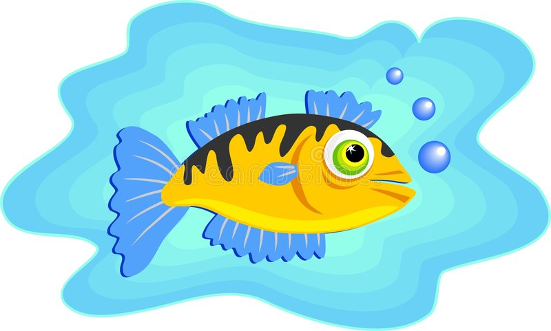 Download Marinefischschwimmen vektor abbildung. Illustration von graphiken - 46724