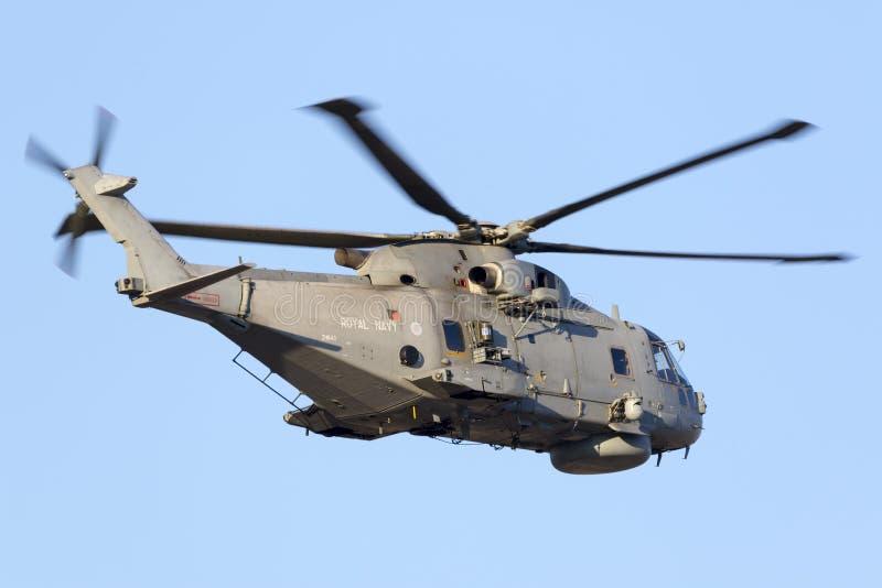 Marinehelikopter op vertrek stock foto's
