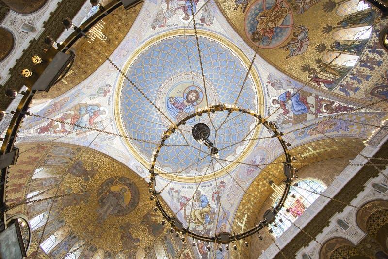 Marinekathedrale Kronstadt lizenzfreie stockbilder