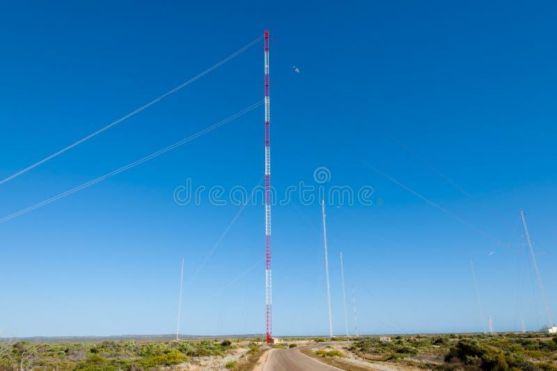 Marinekommunikation sehr niedrige Frequenz Station lizenzfreies stockbild