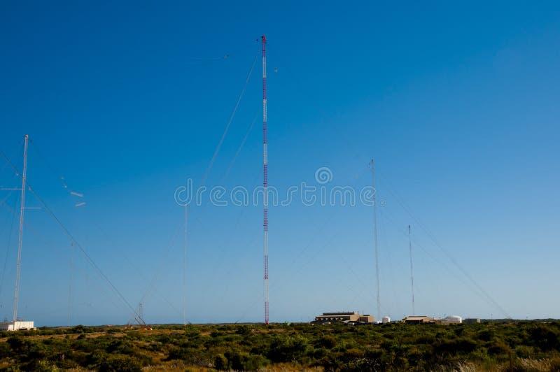 Marinekommunikation sehr niedrige Frequenz Station stockfotografie