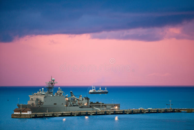 Marinelieferung stockbild