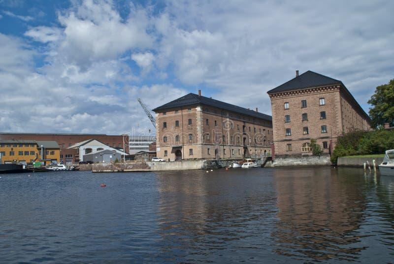 Marinemuseum horten innen (karjohansvern) lizenzfreies stockbild