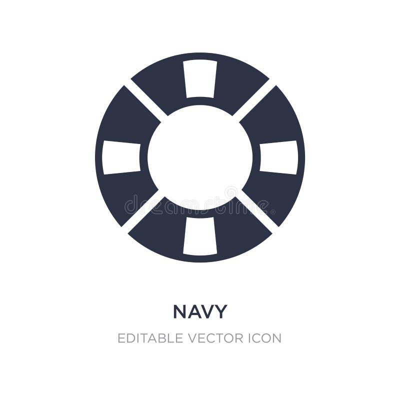 marinepictogram op witte achtergrond Eenvoudige elementenillustratie van Hulpmiddelen en werktuigenconcept royalty-vrije illustratie