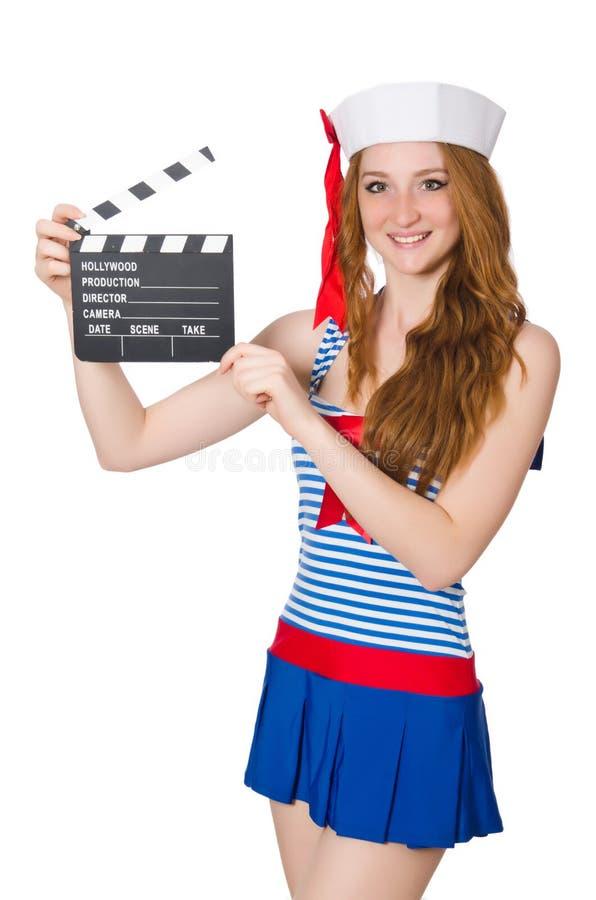 Download Marinero de la mujer joven foto de archivo. Imagen de sombrero - 41918336