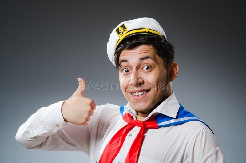 Marinero divertido del capitán imagen de archivo libre de regalías