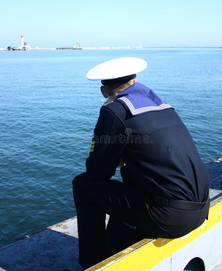 Marinero en uniforme fotos de archivo