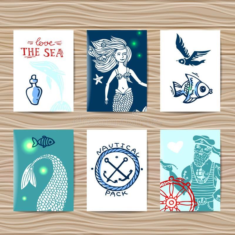 Marinero y sirena libre illustration