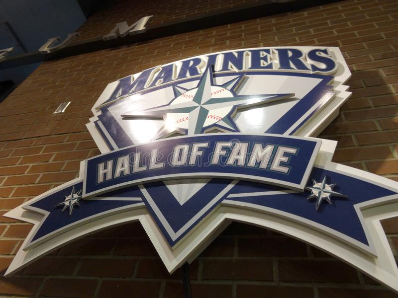 Mariners Hall of Fame Plague on the wall royalty free stock photo