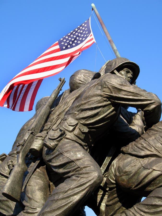 Marines courageuses photo stock