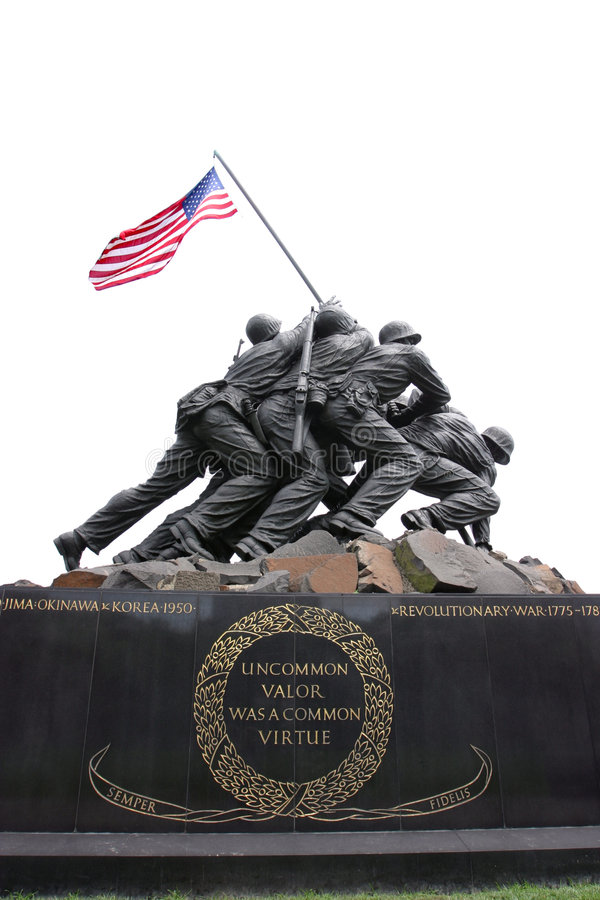 Marines Memorial Arlington stock photo