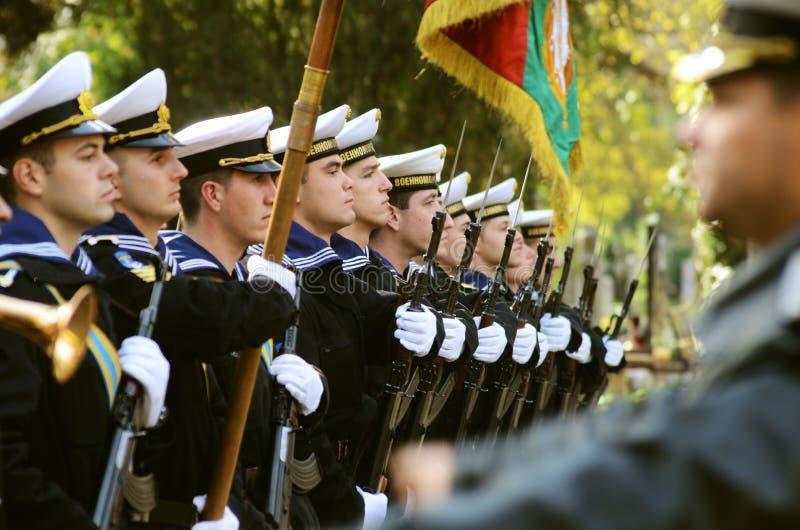 Marinezeremonie stockbilder