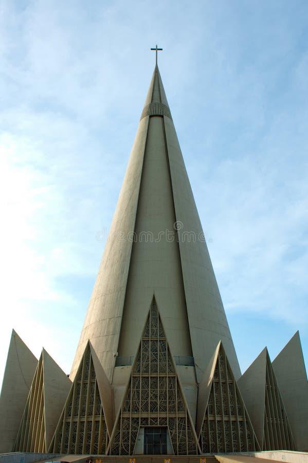 Maringa - Brazil. Maringa, Brazil - May 4, 2014: Minor Basilica of Our Lady of Glory, Maringa, Parana, Brazil stock image