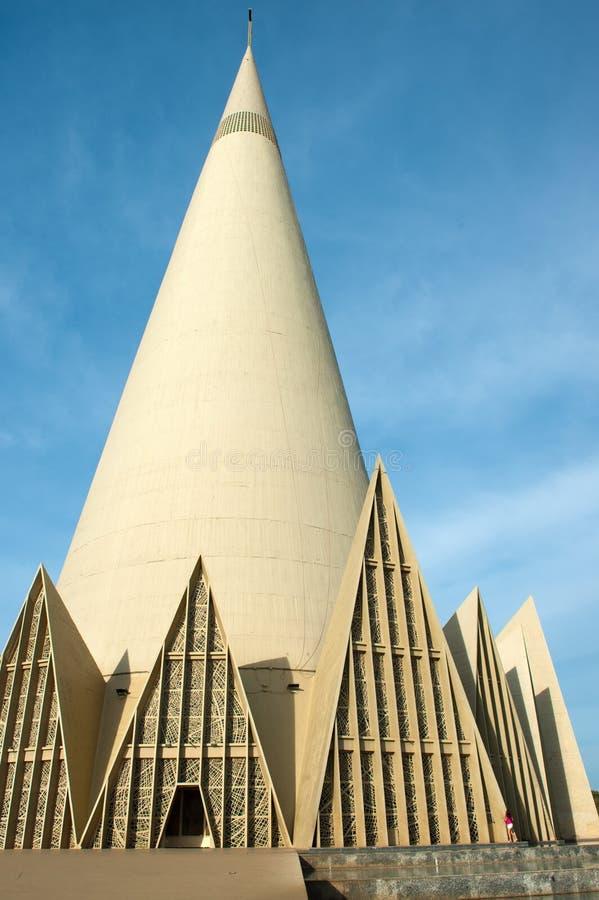 Maringa - Brazil. Maringa, Brazil - May 17, 2014: Minor Basilica of Our Lady of Glory, Maringa, Parana, Brazil stock image