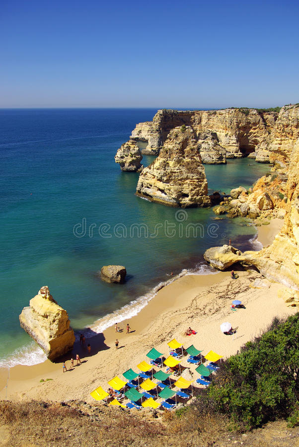 Marinha Beach stock photo