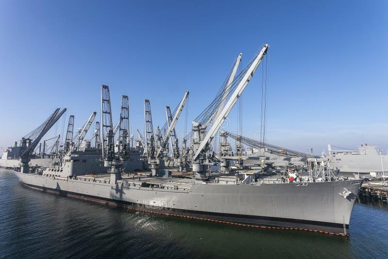 Marinha Crane Ship imagens de stock