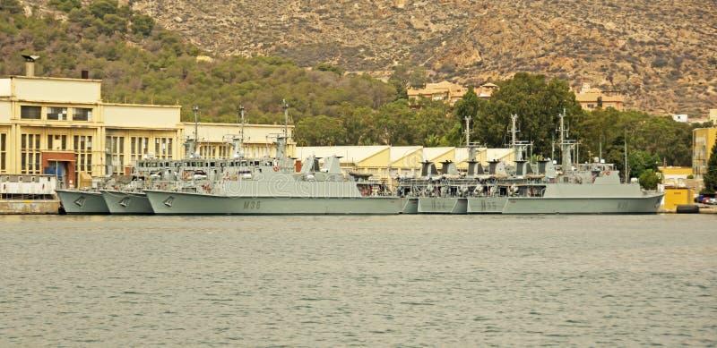 Marinha espanhola, Cartagena foto de stock royalty free