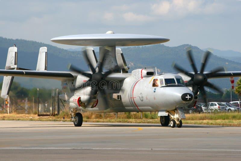 Marinha francesa E-2 Hawkeye imagens de stock