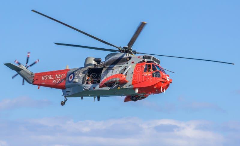 Marinha real Sea King Helicopter imagem de stock