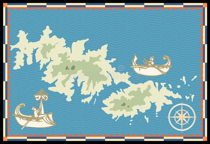 Marinha velha map1 ilustração do vetor