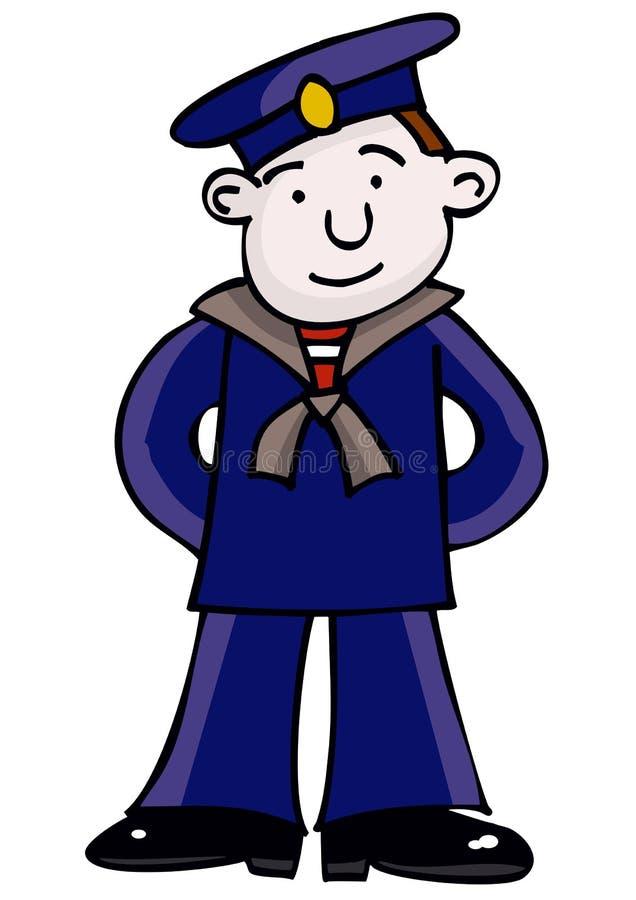Marinheiro ilustração stock