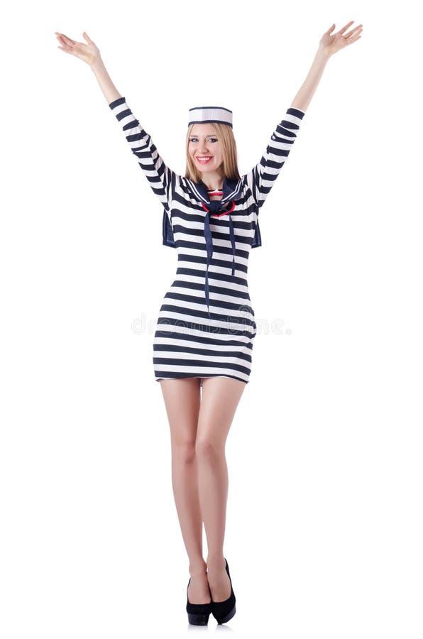 Marinheiro Da Mulher Isolado Imagens de Stock