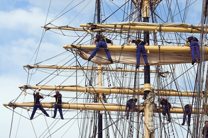 Marinheiros de escalada imagens de stock royalty free