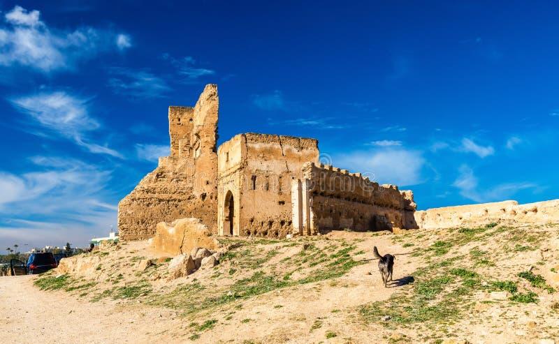 Marinid gravvalv i Fes, Marocko royaltyfria bilder