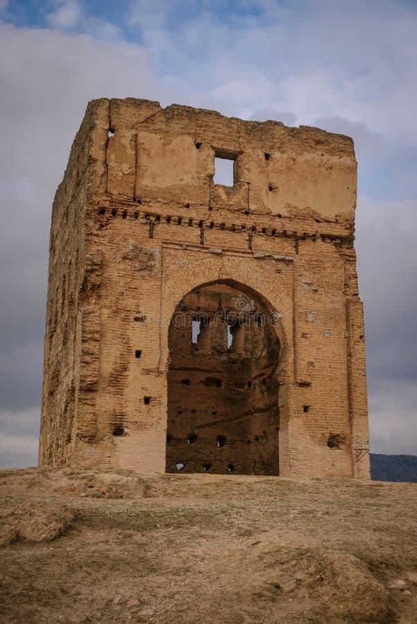 Marinid gravvalv i Fez morocco arkivbild