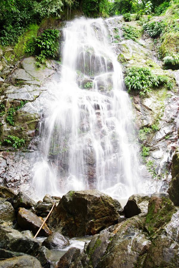 Marinka Waterfall one of the attraction of Minca. royalty free stock photos