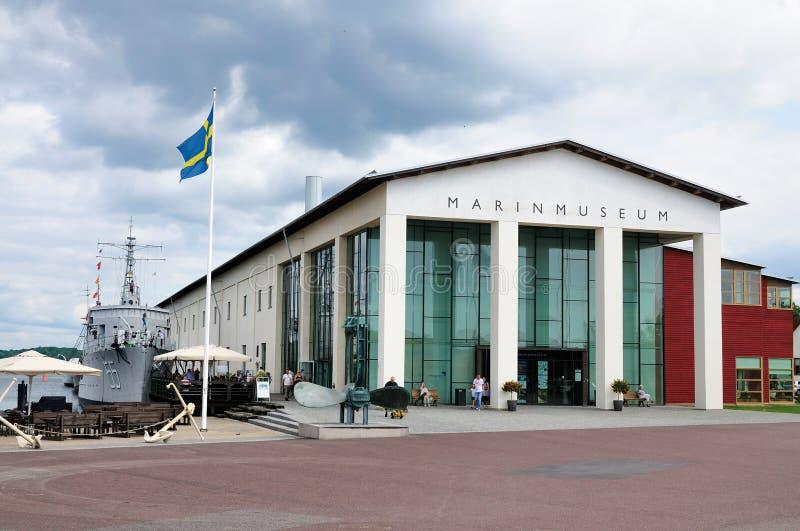 Marinmuseum (museu), Karlskrona Sweden da marinha fotos de stock royalty free