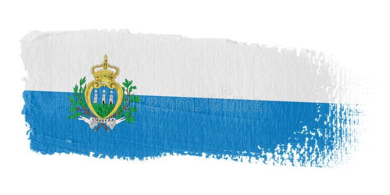 marino san флага brushstroke бесплатная иллюстрация