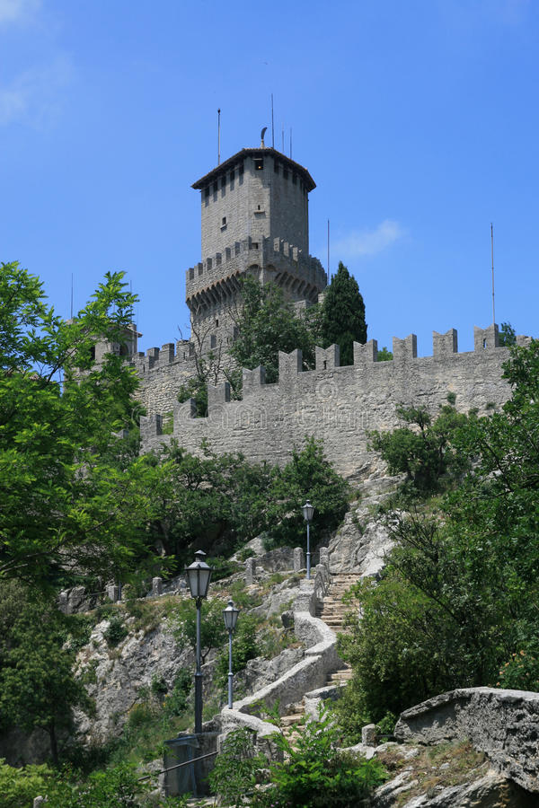 marino san för castellodellaguaita arkivbild