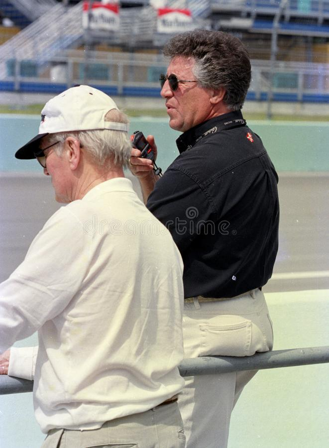 Mario Andretti en Paul Newman royalty-vrije stock foto