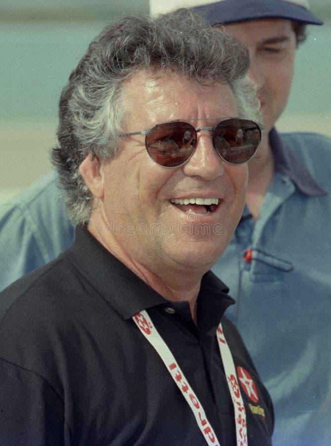 Mario Andretti an Geh?ft-Miami-Speedway lizenzfreies stockfoto
