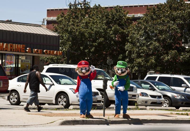 Mario Bros y Luiggy fotos de archivo