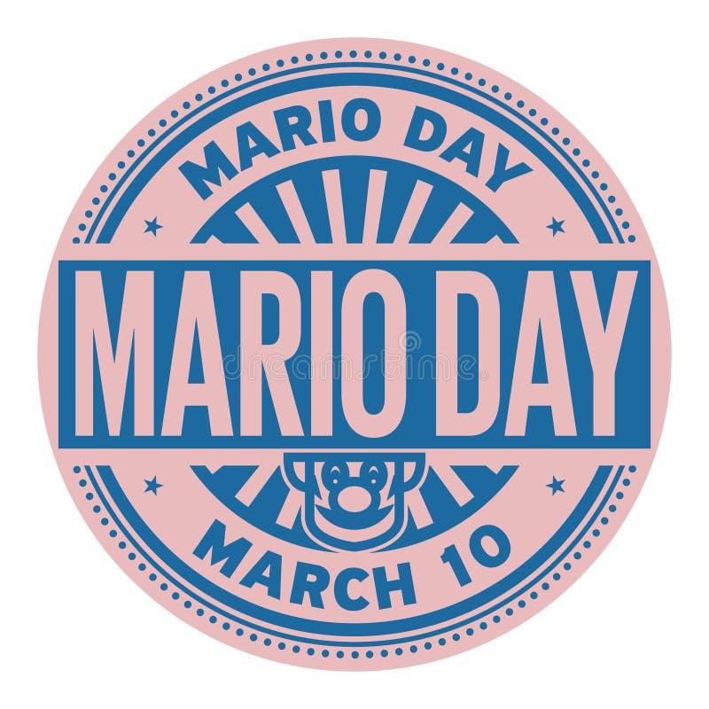 Mario Day-Stempel vektor abbildung