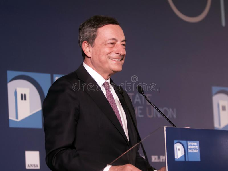 Mario Draghi lizenzfreies stockfoto