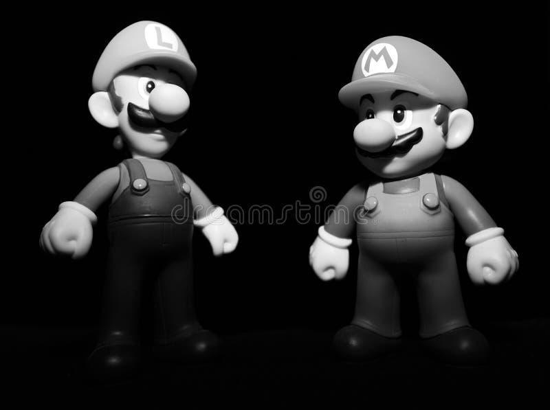Mario och luigi arkivfoton