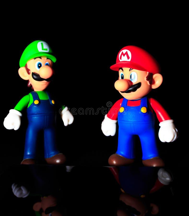 Mario och luigi arkivbilder