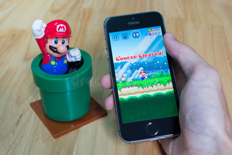Mario Run super foto de stock royalty free
