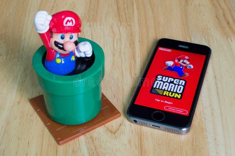 Mario Run super imagem de stock