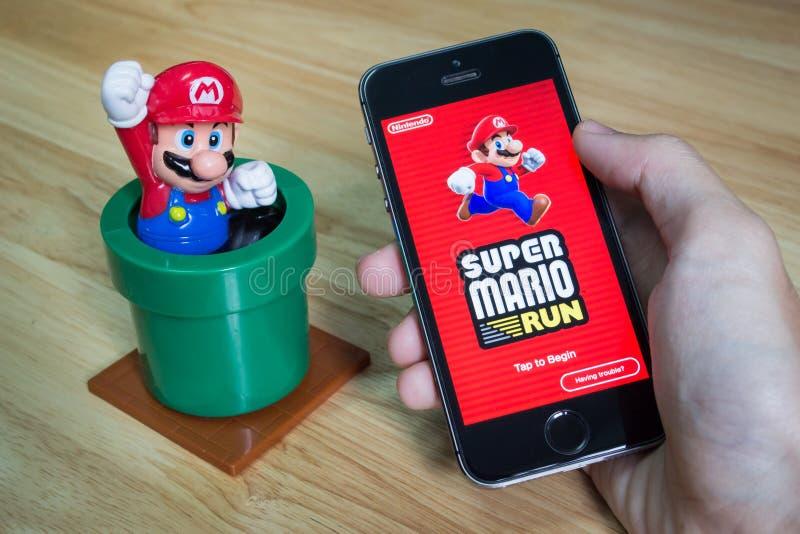 Mario Run super imagens de stock