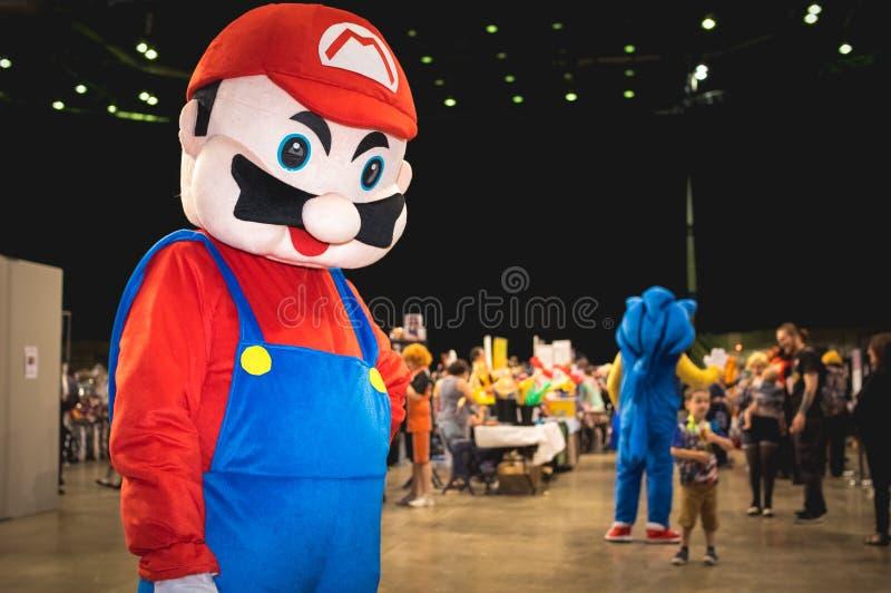 Mario super cosplay foto de stock