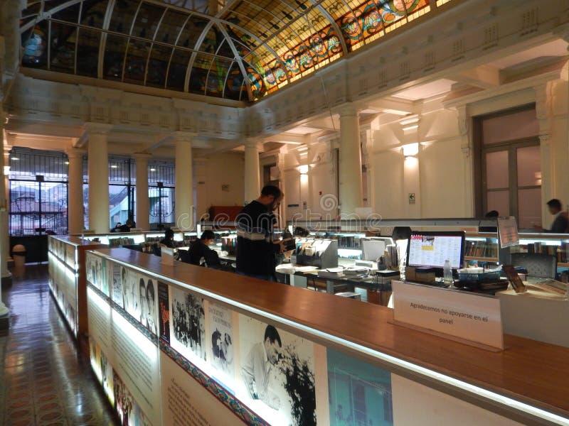 Mario Vargas Llosa-bibliotheek, Casa DE La Literatura Peruana royalty-vrije stock afbeelding