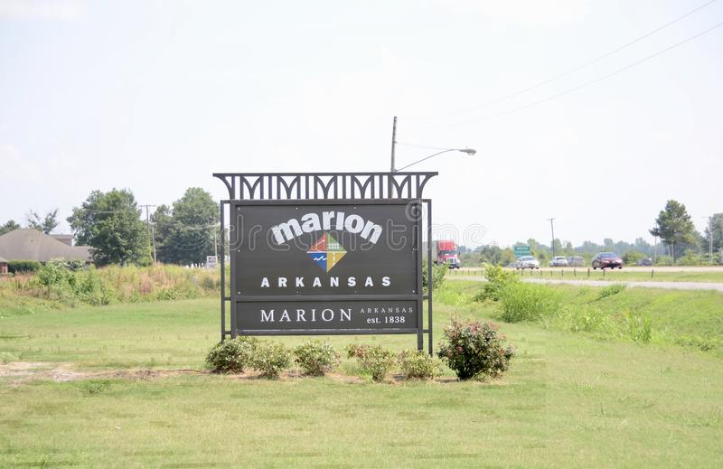 Marion Arkansas av Crittenden County royaltyfri foto