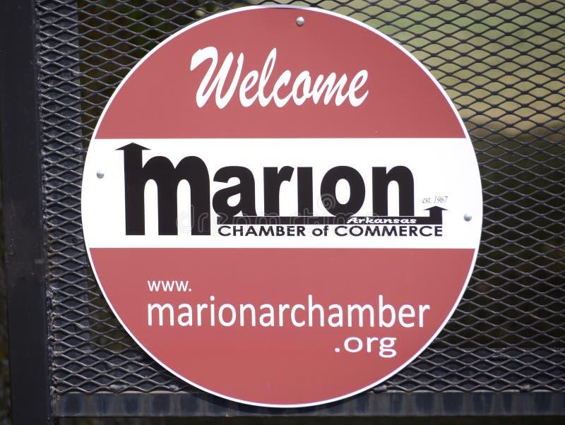 Marion Arkansas Chamber del comercio fotos de archivo